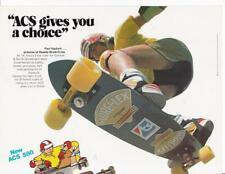 New listing Rare 1978 ACS Skateboard Ad/ Paul Hackett