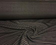 BELLISSIMO marrone nero damascato di cotone tessuto per tende 12 METRI