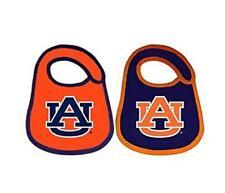 Auburn Tigers Logo Infant Baby Bibs 2 Pack Blue Orange Officially Licensed