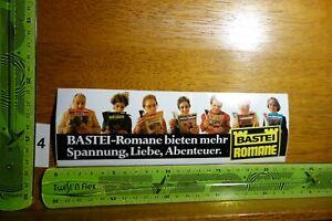 Alter Aufkleber Literatur Verlag BASTEI-ROMANE (A)
