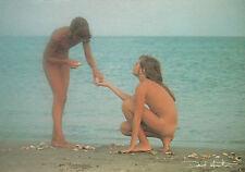 Postcard David Hamilton about 1976 Pin-Up Girl Fille Nue Nude Nudo nude blonde sea