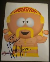 HULK HOGAN SIGNED 8X10 PHOTO WWE WWF HULKAMANIA HULKSTER W/COA+PROOF RARE WOW