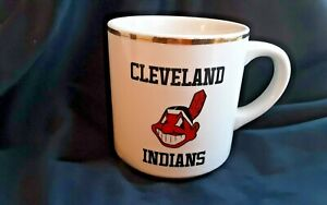 CLEVELAND INDIANS MLB MAJOR LEAGUE BASEBALL MUG COFFEE CUP VINTAGE COLLECTION