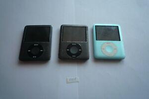 Lot en Gros 3x Apple iPod Nano 8GB 3rd Génération - Noir Et Bleu 1401