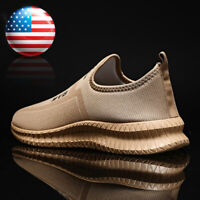 Men's Casual Slip On Trainers Breathable Athletic Sneakers Tennis Running Shoes
