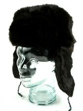 Russian Ushanka Trooper Rabbit Fur Hat Womens 53cm