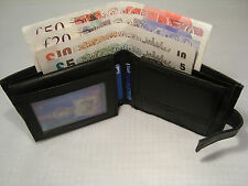 Cow Leather Wallet with Id Space and Button Closer Billfold