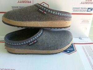 Haflinger Grizzly wool clogs gray size 46