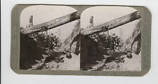 WWI Stereoview (Realistic) - Our infantry seize entrenchments of the Wotan line