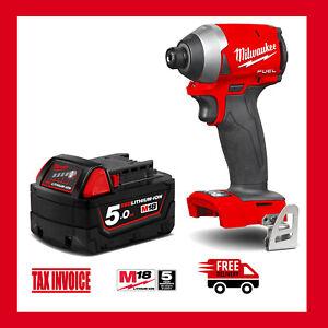 Milwaukee M18FID2-0 Cordless Fuel GEN 3 Impact Driver + Milwaukee M18B5 Battery