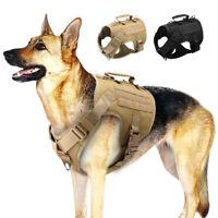 Taktisches Hundegeschirr Tragegeschirr Nylon MOLLE Weste Militär K9 Geschirr SML