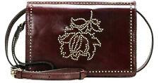 New ListingPatricia Nash Glazed Leather Floral Studded Messenger Bag: Burgundy
