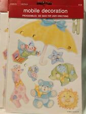 Lot 22 New 1984 American Greetings Baby Paper Mobile Decoration animal