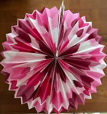 Paper Lantern POLKA-DOT CLAM-SHELL SUNBURST Retro Party PINK mid century style