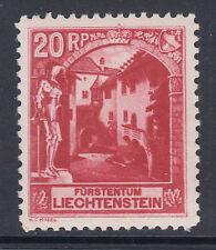 Liechtenstein Sc 97 MNH. 1930 20rp Vaduz Castle Courtyard, perf 10½, F-VF
