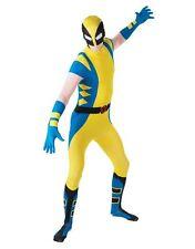WOLVERINE 2nd SKIN BODYSUIT Deluxe Men's Superhero X-Men Mutant Costume LARGE