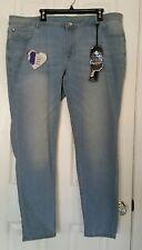 Rebel By Right Curvy Skinny Butt Enhancer Crop Stretch Jeans Plus Sz 24 NEW