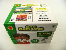 Lot 6 early learning games flash cards Addition War/Go Fish/Old Maid ages 4+