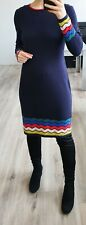 BODEN Knit DRESS Navy Blue Cotton Wool Cashmere Blend UK10 US6 S