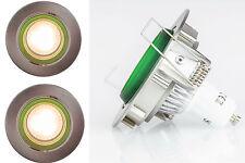 LED Einbauspot Apfelgrün Einbau Lampe Decken Spot 230V GU10 Satin Chrom Rahmen