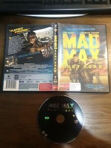 DVD - Mad Max Fury Road Region 4 Tom Hardy Charlize Theron broken case free post