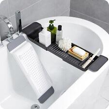 Bathroom Bath Caddy Tray Bathtub Board Bath Shelf Wine Tablet Holder Light Oak
