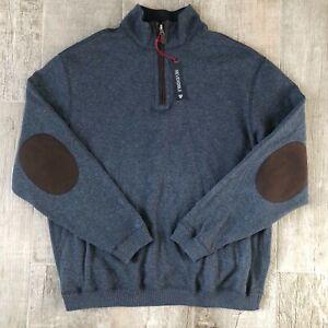 Daniel Cremieux Men Reversible Quarter Zip Sweater Size L