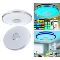 72W LED Ceiling Light Lamp RGB Bluetooth Music Speaker Dimmable for Bedroom