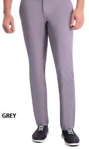 Men's Haggar Premium Comfort Khaki Slim-Fit Stretch Flex Waistband n shirt Grip