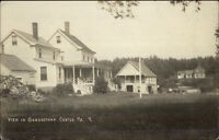 Georgetown Center ME Homes etc c1910 Real Photo Postcard