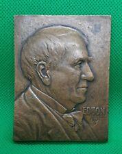 """1929 Thomas Edison Light's Golden Jubilee Medal 2 1/2"""" X 3"""""""
