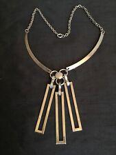 Vintage 1960 Modernist Stainless Steel Pendant/Necklace #5885