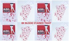 8x Bloody White Tights With Blood Stains Bloody Nurse Halloween Zombie Bulk Lots