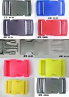 2x Plastic Side Release Buckles 30mm Fasteners For Webbing Straps
