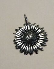 925 Sterling Silver SUN FLOWER pendant charm Gift Boxed