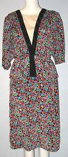 BRELI ORIGINALS Multi-Color 3/4 Sleeves Dress (Made in U.S.A.)