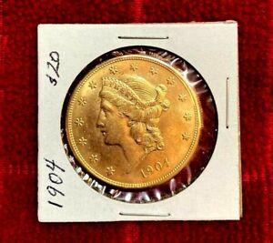 1904 $20 Double Eagle HIGH GRADE Gold coin