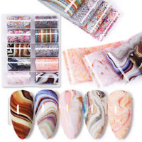 4*100cm Nail Foils Marble Nail Art Transfer Stickers Slide Decoration Decal Tips