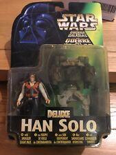 Star Wars POTF2 Deluxe Han Solo Euro Card MOC 1998
