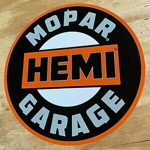 Mopar Hemi Garage Aluminum Metal Sign 12""