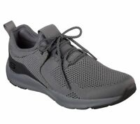 Skechers shoes Men Charcoal Memory Foam Sport Comfort Train Walk Knit Mesh 52890