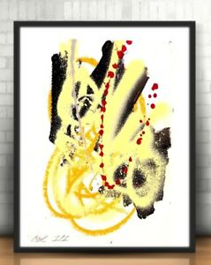CORBELLIC ABSTRACT HAND PRINT PAINTING EXPRESSIONISM ACRYLIC FINE MODERNISM ART