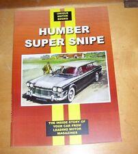 HUMBER SUPER SNIPE ROAD TEST REPRINT BOOK + SERVICING DATA .MK IV - SERIES IV