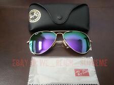 New Ray Ban Aviator Large Metal 3026 Purple Violet flash Mirror 62MM Sunglasses