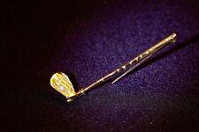 """Brosche 750/- Gelbgold, """"Golfschläger"""", 1 Brillant 0.04ct. TW/VSI, WG-Nadel."""
