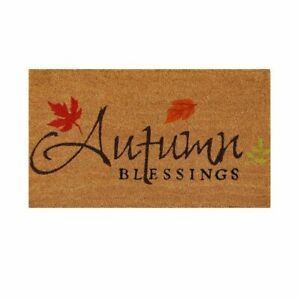 "Autumn Blessings 17"" x 29"" Coir/Vinyl Doormat"