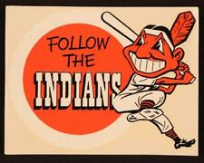 CLEVELAND INDIANS Chief Wahoo Follow the Indians 8 x 10 Glossy Photo Poster
