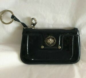 Marc by Marc Jacobs Black Patent Coin Purse Key Wallet