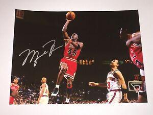 Michael Jordan Hand Signed Autograph Photo #45 Chicago Bulls 🏀 SLAM DUNK!