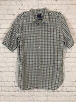 Prana Mens Breathe S/S Plaid Shirt Sz XL